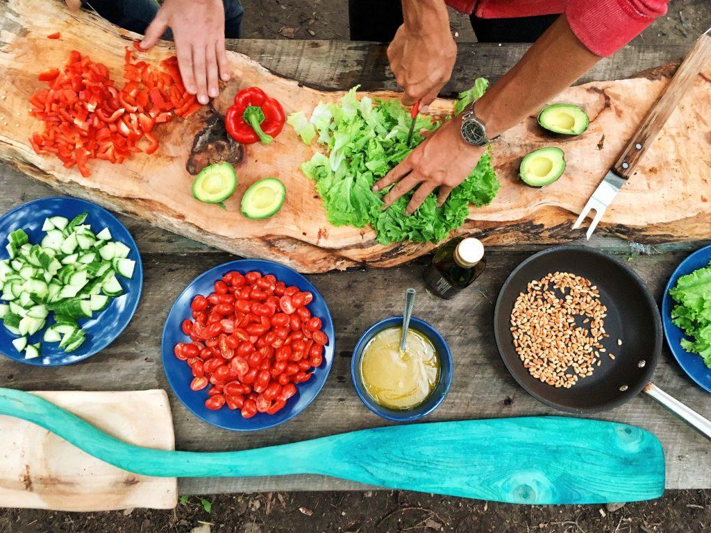 banquete comida niños vegetariano grupo esgo